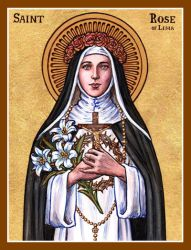 St. Rose of Lima icon by Theophilia