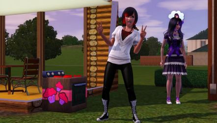Me Crystal as a Sims 3 person by Lolalilacs