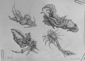 Creature Pencil Sketch #1 by Azot2018