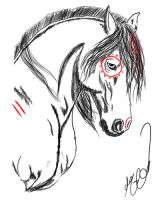 Native Horse Tat 3 by Mean-cat