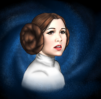 Carrie Fisher by attack0nt33tan