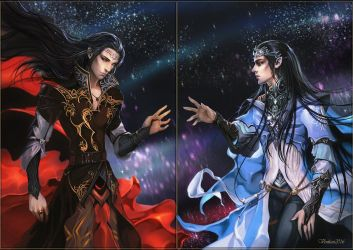 Feanor and Fingolfin Reunion by Venlian