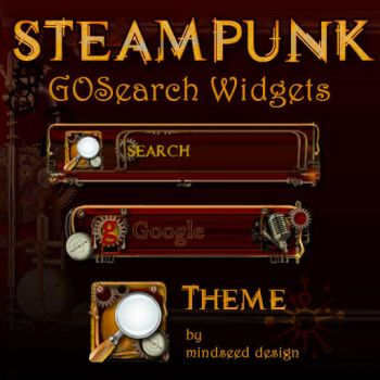 Steampunk Google Search Widget for Android by mindseed-design