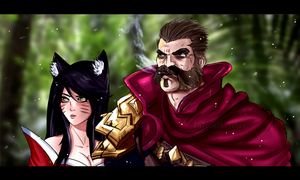 In trouble (Graves and Ahri) by StretchNSin
