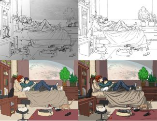 my simple color process by wulfmune