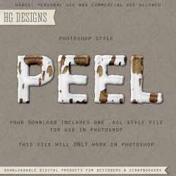 PS Style: PEEL by HGGraphicDesigns