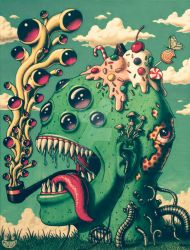 Another Trippy Head (Vintage) by JimmyAlonzo