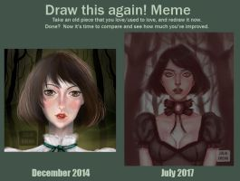 Redraw my first digital art by juliacheng
