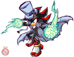 Kaito Shadow Sonic Battle style by shadowhatesomochao