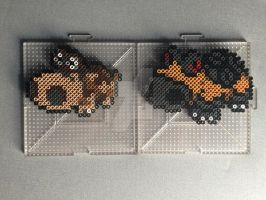 #449-#450 Hippopotas and Hippowdon Perlers by TehMorrison