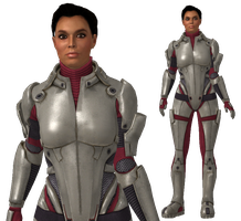 Ashley Williams  ME1/2 armour with bun for XPS by Just-Jasper