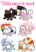 [Shiberoll] Colored Sweets'n'Treats Adopts CLOSED by purrwitch