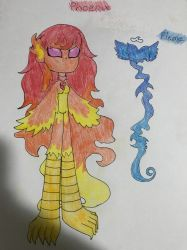Phoenix And Flame by SoulSpiker44