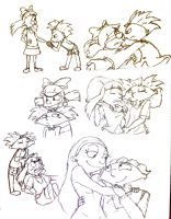 Sketch Time: Arnold and Helga by SeBriar