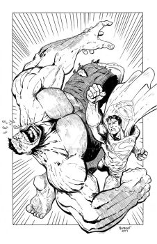 SuperMan vs Hulk32017 by DavidPentecost