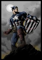 captain America in WW2 - color by JeffWelborn