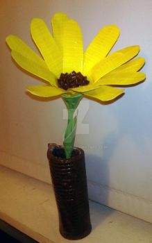 Duct Tape Sunflower by ChelliChan