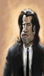 John Travolta Sketch by DoodleArtStudios