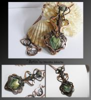Artis- wire wrapped copper necklace by mea00
