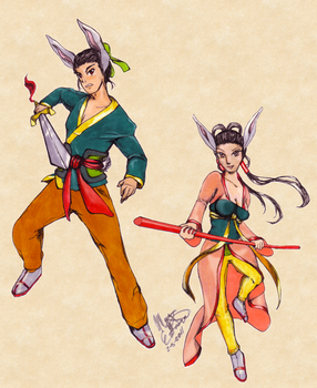 2011 Lucky Rabbit Warriors by IceCoffin
