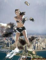 Giantess Nina Dobrev Mayday Mayday by GiantessStudios101