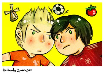 Spain vs Holland - worldcup 2014 by bluenblackst