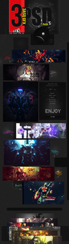 3asq's first PSD pack. FEB - 2013 by xRyuSama