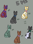 bandanna cat adopts (3/6 open) by MonokingDraws