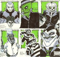 Ghostbusters Sketch cards 1 by JackIvy