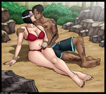 Dennis and Kristy in Love by Kreaturez