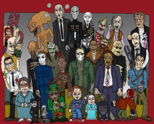 Icons of Horror by Lordwormm