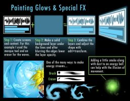 tips for painting glows by DigitalCutti