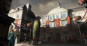 Assassins creed Unity : Luxembourg exterior by nachoyague