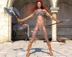 Red Sonja WIP3 by fsmcdesigns