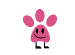 My Object Character - Pink Panther Pawprint by jared33