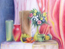 Still life with flowers by doma22