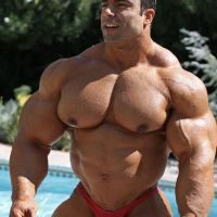 Muscle at the Pool by n-o-n-a-m-e