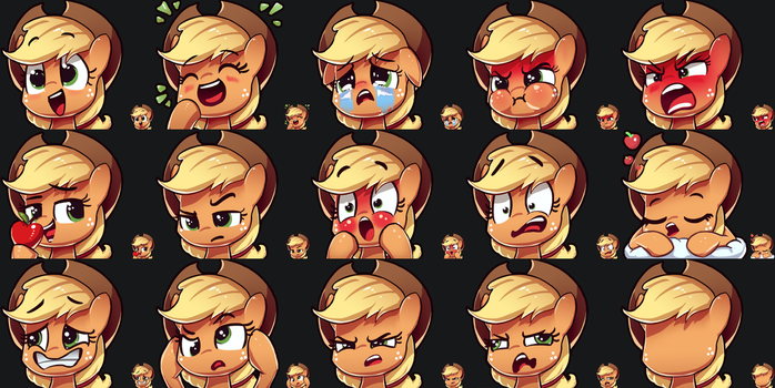 Applejack Emotes by AssasinMonkey