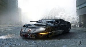 vehicle concept: after damaged by aaronlam