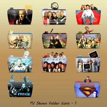 TV Show Folders Set 1 by ashtray4241