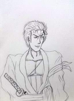 fast sketch for Roronoa Zoro by Jia-Horizon-Artworks