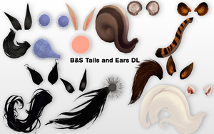 MMD BnS Tails and Ears DL by UnluckyCandyFox