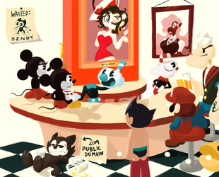The Cuphead Cafe II by Scarlet-Ajani