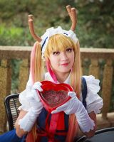 Tohru's Chocolate, Dragon Maid Cosplay Valentine's by firecloak