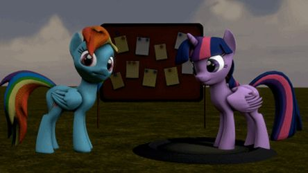 thi animation for pony sitting and standing up! by CNClouddrop