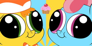 Mr. and Mrs. Cake Face by Blanishna