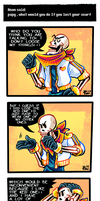 Undertale ask blog: that one scarf by neonUFO