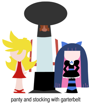 Minimalist Panty and Stocking by NikoAnesti