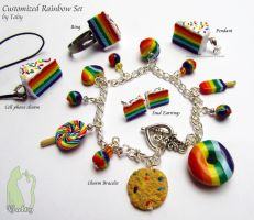 Full Rainbow Food Set by Talty