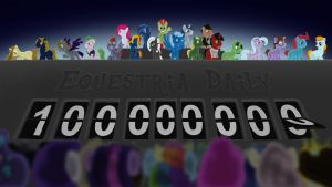 Equestria Daily 100 million views tribute by MadderMike